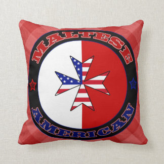 Maltese American Cross Ensign Cushion