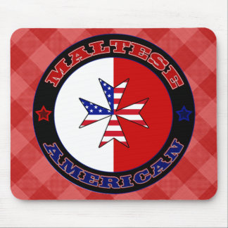Maltese American Cross Ensign Mousemat Mouse Pad