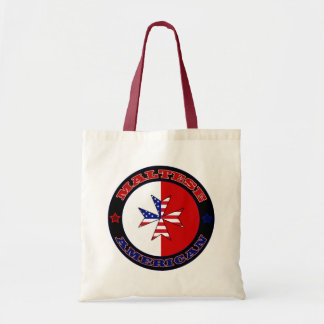 Maltese American Cross Ensign Shopping Bag
