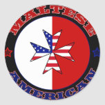 Maltese American Cross Ensign Sticker