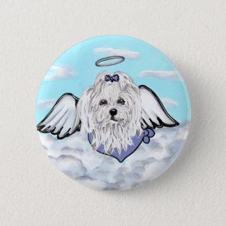 Maltese Angel 2 Inch Round Button