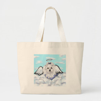 Maltese Angel Large Tote Bag