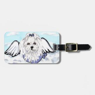 Maltese Angel Luggage Tag