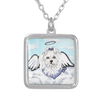 Maltese Angel Silver Plated Necklace