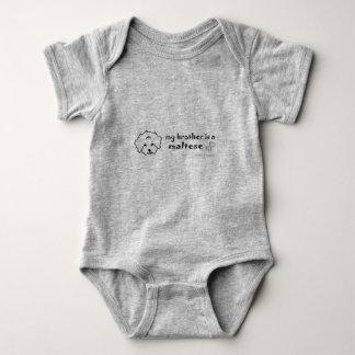 maltese baby bodysuit
