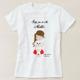 Maltese Bichón, basic white t-shirt