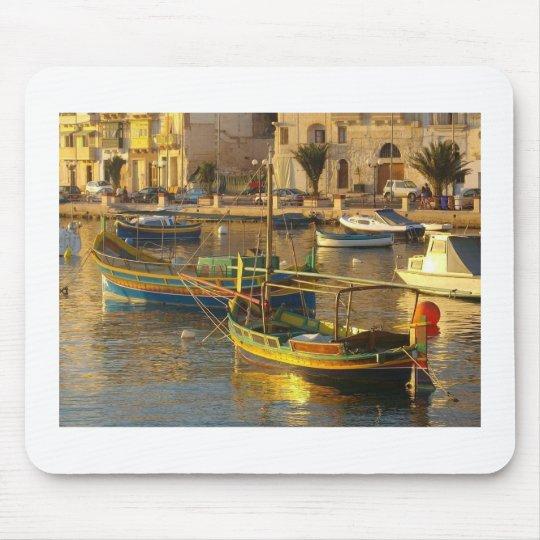 Maltese Boats Mouse Pad