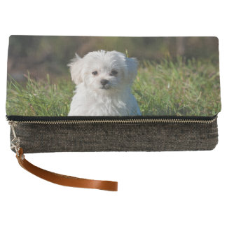 Maltese clutch, or use your own cute dog photo clutch