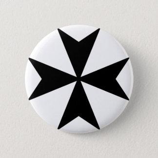 Maltese Cross 2 Inch Round Button