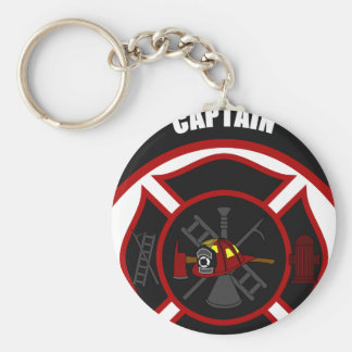 Maltese Cross - Captain (Red Helmet) Basic Round Button Keychain