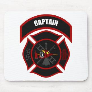 Maltese Cross - Captain (Red Helmet) Mouse Pad