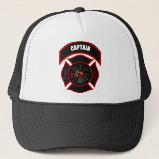 Maltese Cross - Captain (Red Helmet) Trucker Hat