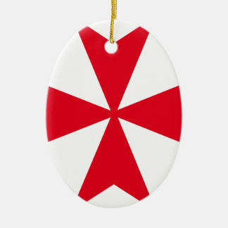 maltese cross ceramic ornament