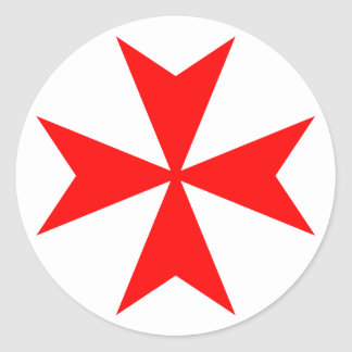 Maltese Cross Classic Round Sticker