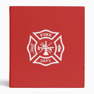 MALTESE CROSS, FIRE, FIRE DEPT, FIREFIGHTER 3 RING BINDER