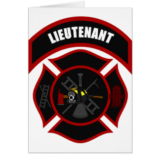Maltese Cross - Lieutenant (black helmet) Card