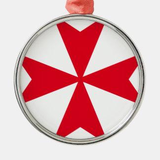 maltese cross metal ornament
