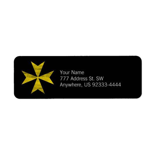 Maltese Cross Return Address Label
