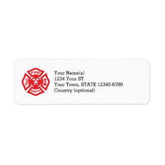 Maltese Cross- return address labels
