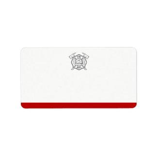 Maltese Cross Symbol | Blank Address Label