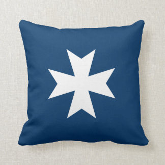 Maltese Cross Throw Pillow