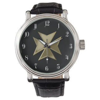 Maltese cross wrist watches