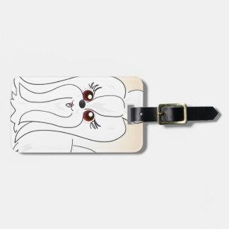 Maltese Dog Art Luggage Tag