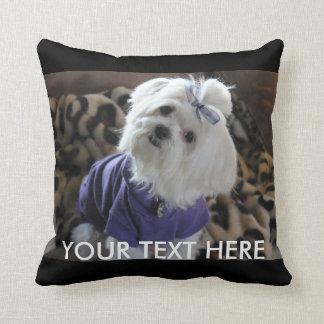Maltese Gifts Throw Pillow