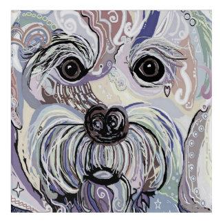 MALTESE in Denim Colors Acrylic Print