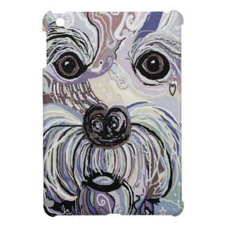 Maltese in Denim Colors iPad Mini Cover
