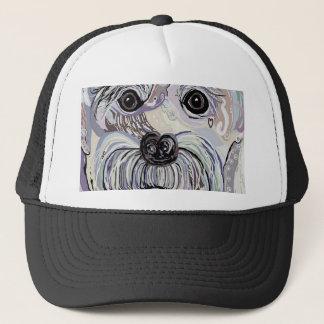 Maltese in Denim Colors Trucker Hat