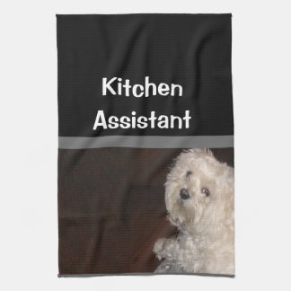 MALTESE Kitchen Assistant Towel-- Gray/Black/White Kitchen Towel