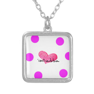 Maltese Language of Love Design Silver Plated Necklace