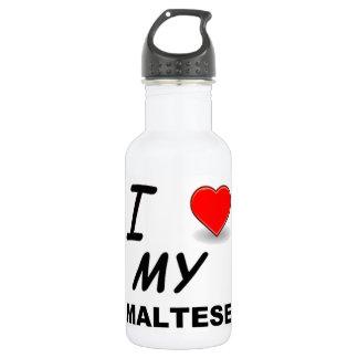 maltese love 532 ml water bottle