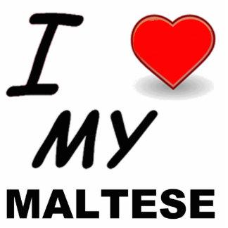 maltese love photo sculpture keychain