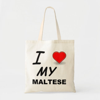 maltese love tote bag