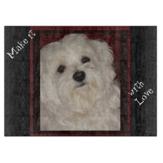 Maltese 'Make it with Love'  Cutting Board 4 Home