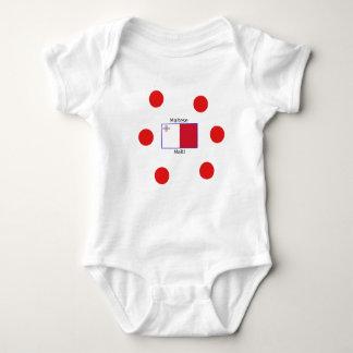 Maltese (Malti) Language And Malta Flag Design Baby Bodysuit