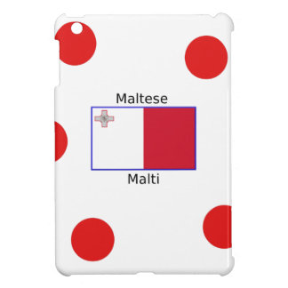 Maltese (Malti) Language And Malta Flag Design iPad Mini Cover
