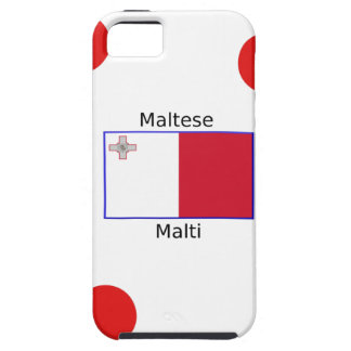 Maltese (Malti) Language And Malta Flag Design iPhone 5 Cases