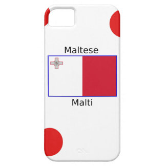 Maltese (Malti) Language And Malta Flag Design iPhone 5 Cover