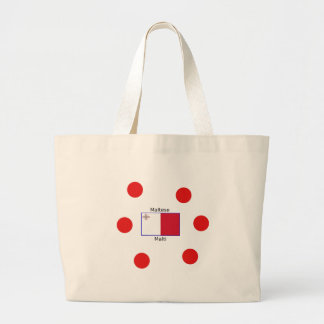 Maltese (Malti) Language And Malta Flag Design Large Tote Bag
