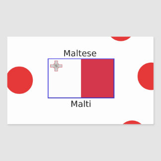 Maltese (Malti) Language And Malta Flag Design Sticker