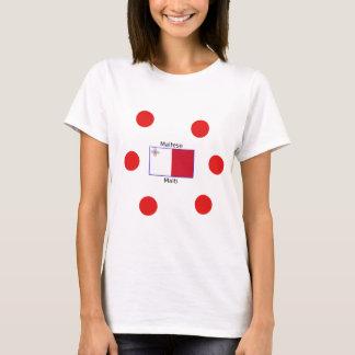 Maltese (Malti) Language And Malta Flag Design T-Shirt