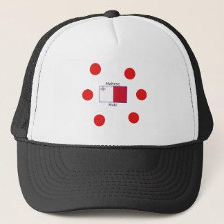 Maltese (Malti) Language And Malta Flag Design Trucker Hat