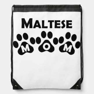 Maltese Mom Drawstring Bag