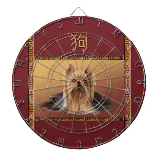 Maltese on Asian Design Chinese New Year, Dog Dartboard