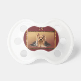 Maltese on Asian Design Chinese New Year, Dog Pacifier