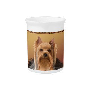 Maltese on Asian Design Chinese New Year, Dog Pitcher