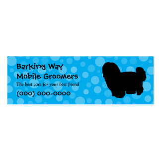 Maltese Pet Care Blue Pack Of Skinny Business Cards